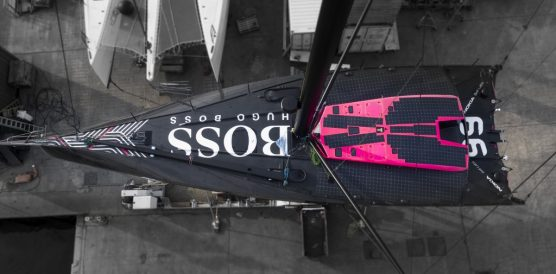 Pictures of Alex Thomson's new custom built  HugoBoss IMOCA Open60 race yacht. Credit Lloyd Images